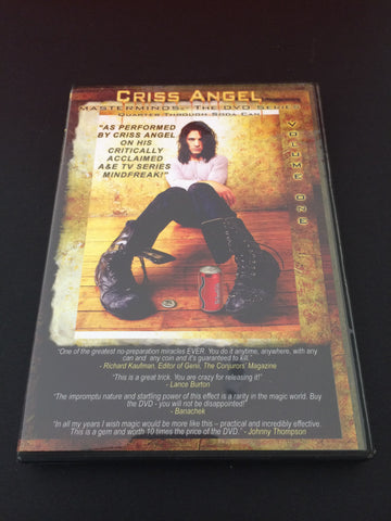 Criss Angel - Masterminds Vol 1 DVD - Available at pipermagic.com.au