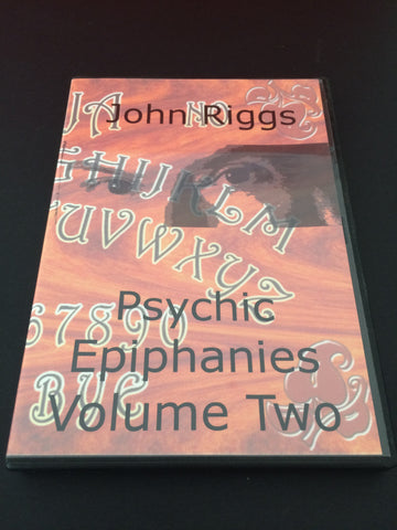 John Riggs - Psychic Epiphanies Vol 2 DVD - Available at pipermagic.com.au