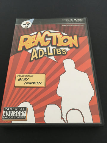 Reaction Ad-Libs Starring Gary Darwin - Available at pipermagic.com.au