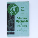 Modus Operandi (Demon Series Part Two)  - Eric C. Lewis - Available at pipermagic.com.au