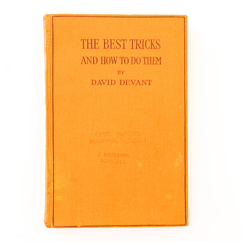 The Best Tricks & How To Do Them - David Devant - Available at pipermagic.com.au