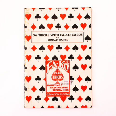 36 Tricks with Fa-Ko Cards - Ronald Haines - Available at pipermagic.com.au