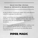 Something New in Magic - Ned Williams - Available at pipermagic.com.au