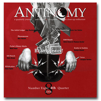 Antinomy Magazine #8 - Book - Available at pipermagic.com.au