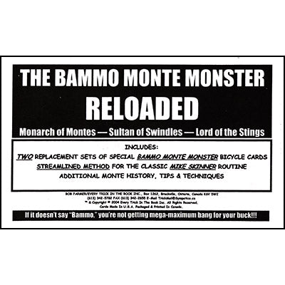Bammo Monte Monster Reloaded by Bob Farmer - Available at pipermagic.com.au
