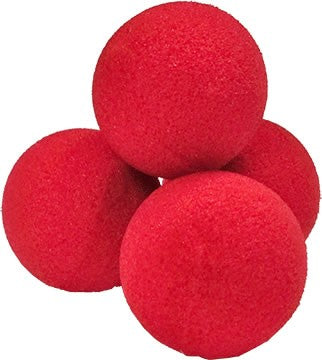 2.5 inch Super Soft Sponge Ball (Red) Pack of 4 from Magic by Gosh - Available at pipermagic.com.au