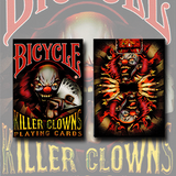 Bicycle Killer Clowns Playing Cards by Collectable Playing Cards - Available at pipermagic.com.au