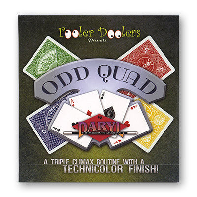 Odd Quad (Cards and DVD) by Fooler Doolers - Available at pipermagic.com.au