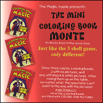 Mini Coloring Book Monte by  Magic Apple - Trick - Available at pipermagic.com.au