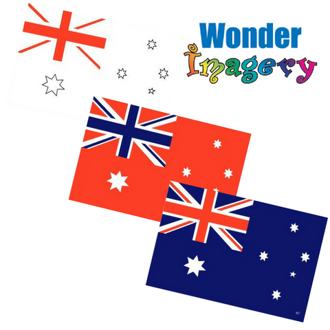 The Australian MisMade Flag by Wonder Imagery - Available at Piper Magic Australia