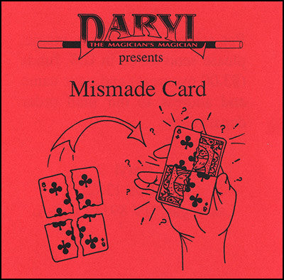 Mismade Card by Daryl - Available at pipermagic.com.au