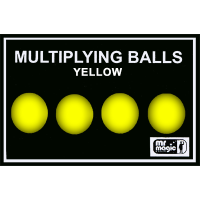 Multiplying Balls (Yellow Plastic) by Mr. Magic - Trick - Available at pipermagic.com.au