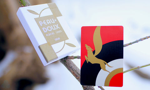 Peau Doux: White Glove Limited Edition Playing Cards - Available at pipermagic.com.au