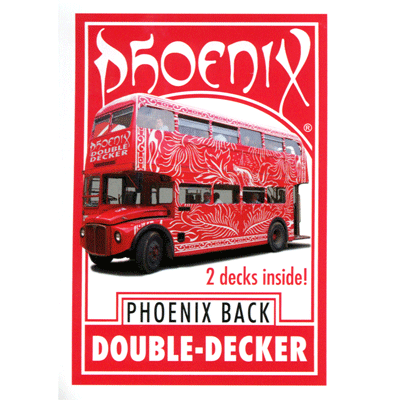 Phoenix Parlour Double Decker (Red/Blue) by Card-Shark - Available at pipermagic.com.au