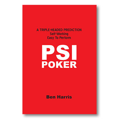 PSI-Poker by Ben Harris - Available at pipermagic.com.au