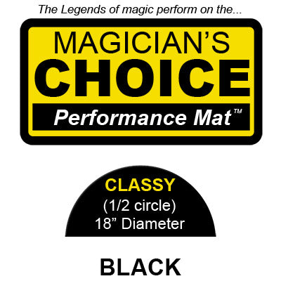 Classy Close-Up Mat (BLACK - 18 inch) by Ronjo - Trick - Available at pipermagic.com.au