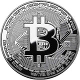 Bitcoin Medallion (Silver Dollar Size) - Available at pipermagic.com.au