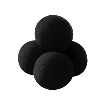 "2.5"" Super Soft Sponge Ball (Black) Pack of 4 from Magic by Gosh - Available at pipermagic.com.au"
