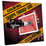 Sharpie Through Card  (Red) by Alakazam Magic - Available at pipermagic.com.au