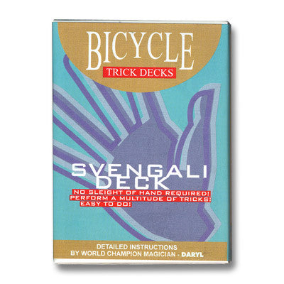 Svengali Deck Bicycle (Red) - Trick - Available at pipermagic.com.au