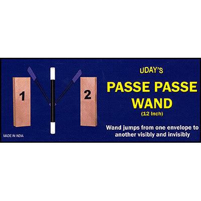 "Passe Passe Wand (12"") by Uday - Available at Piper Magic Australia"