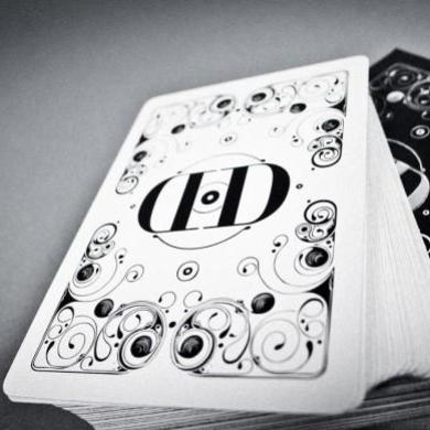 Smoke & Mirrors (WHITE) Playing Cards by Dan and Dave