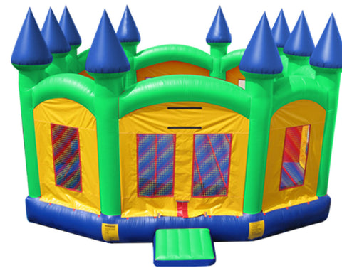 Super Size Green Castle bounce house
