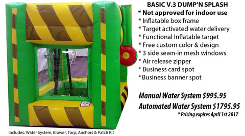 DUMP'N SPLASH INFLATABLE DUNK TANK TARGET GAME