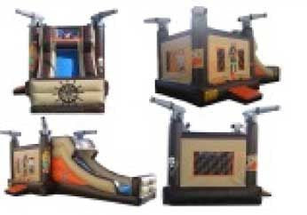 PIRATE THEME COMBO BOUNCE HOUSE .
