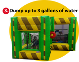 DUMP-N- SPLASH  INFLATABLE DUNK TANK TARGET GAME