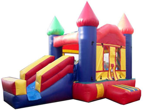 RAINBOW CASTLE MINI COMBO BOUNCE HOUSE