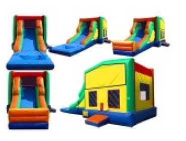 PRIMARY COLORS --WET / DRY COMBO  BOUNCE HOUSE