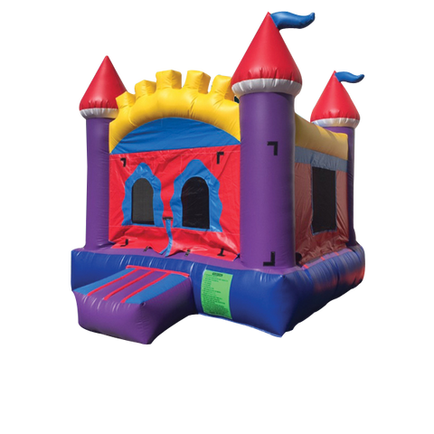 BLUE / BROWN  CASTLE BOUNCE HOUSE