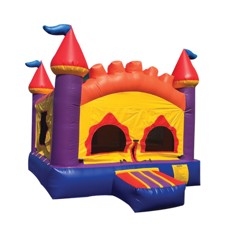Orange Castle Bounce House