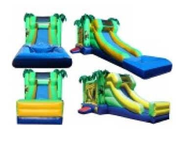 PALM THEME --WET / DRY  COMBO BOUNCE HOUSE