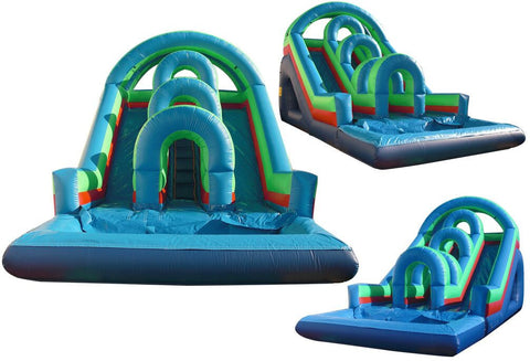 ARCH THEME FRONT LOAD / DUAL LANE  WATER SLIDE #3
