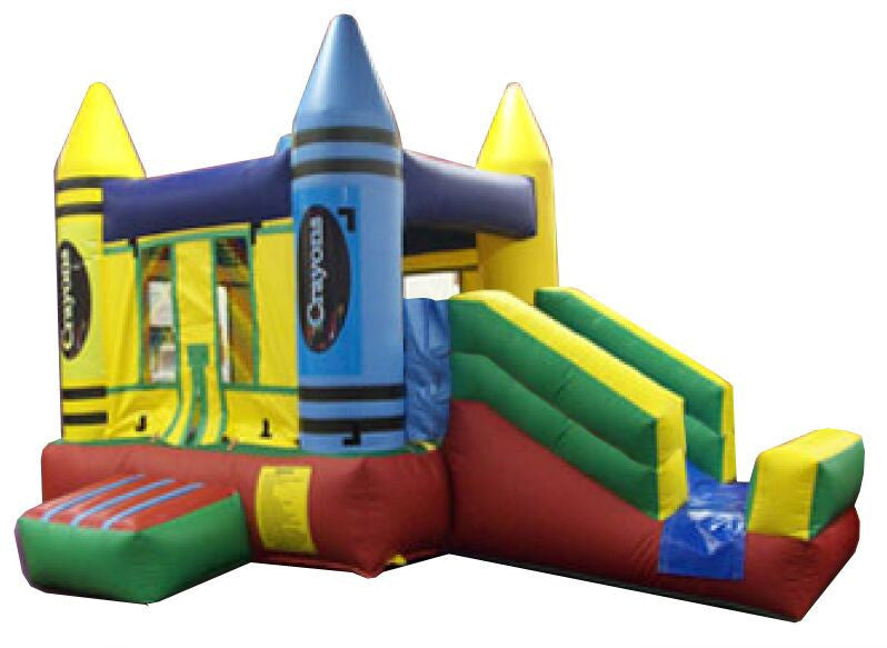 CRAYON TIP STYLE -  MINI COMBO BOUNCE HOUSE
