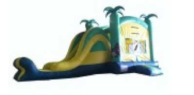 TROPICAL THEME COMBO BOUNCE HOUSE