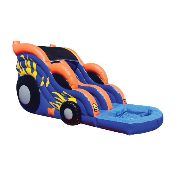 RACE CAR THEME DUAL LANE FRONT LOAD SLIDE