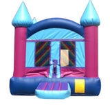 LITE BLUE & GRAY CASTLE BOUNCE HOUSE