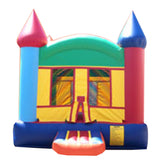 LITE BLUE & ORANGE CASTLE BOUNCE HOUSE