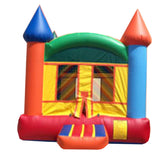Orange & Gray Castle Bounce House