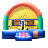 GREEN & ORANGE ARCH BOUNCE HOUSE