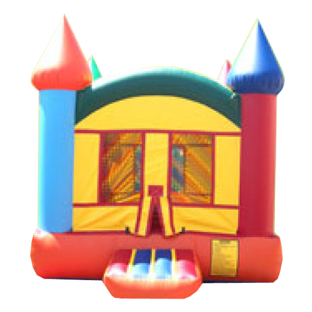 Orange & Red Castle Bounce House