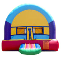 Purple & Blue Arch Bounce House