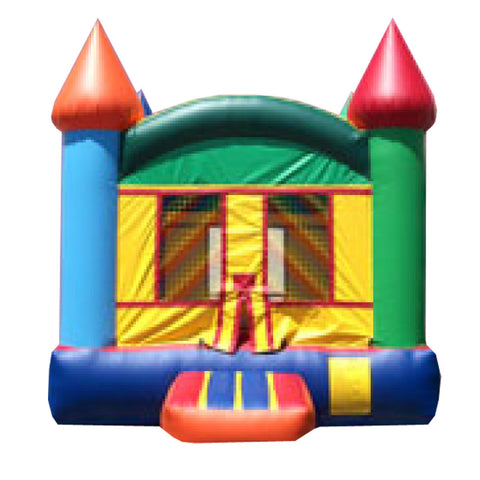 Orange & Brown Castle Bounce House