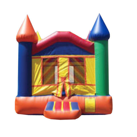 ORANGE & BLUE CASTLE BOUNCE HOUSE