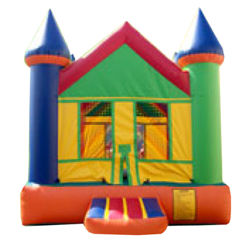GRAY & ORANGE CASTLE BOUNCE HOUSE