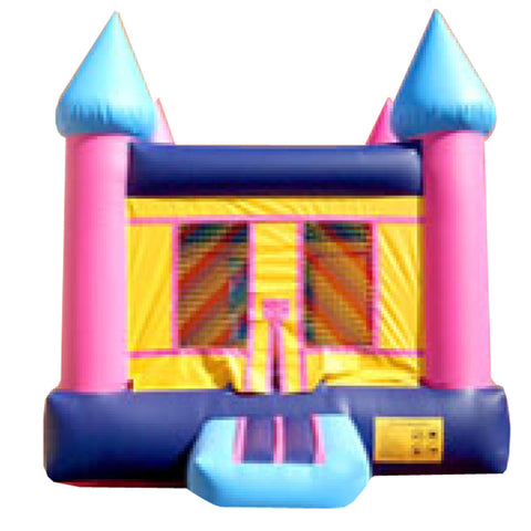 Orange & Pink Princess Castle Bounce House