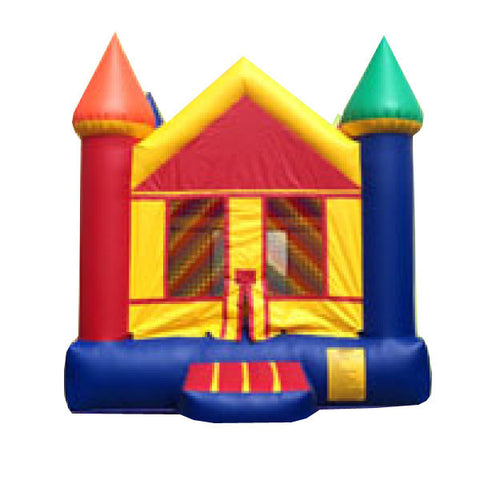 Yellow / Red and blue  Castle Bounce House